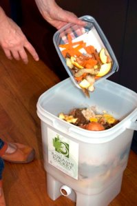 Practicing bokashi as a composting option