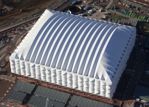 Basketball arena for 2012 Olympics in London is built to be recycled